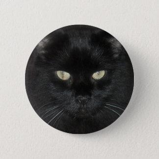 Black Cat Stare 6 Cm Round Badge