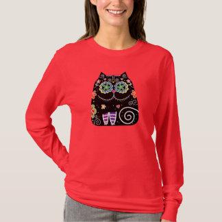 Black Cat Sugar Skull T-Shirt