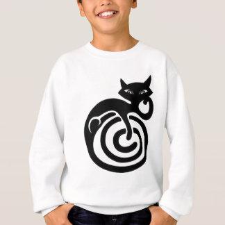 Black cat. sweatshirt
