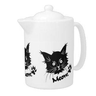 Black Cat teapot