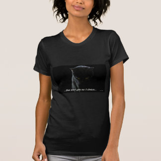 Black Cat Thinking T-shirt