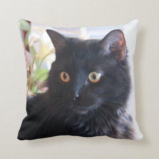 Black Cat, throw pillow