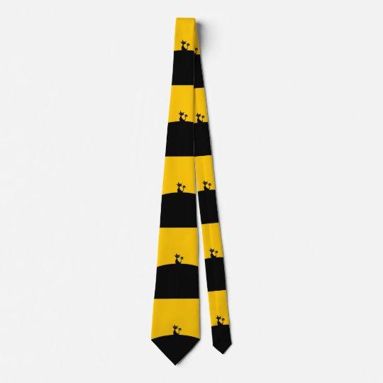 Black Cat tiles Tie