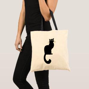 Black Cat Tote Bag Cat Grocery Bag Halloween Bags