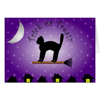 Black Cat Trick or Treat? Halloween Card
