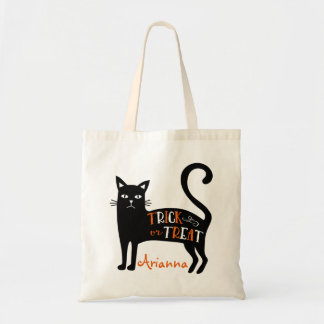 Black Cat Trick or Treat Personalized