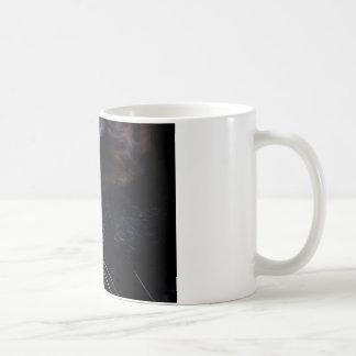 Black Cat Under a Full Moon ~ Basic White Mug