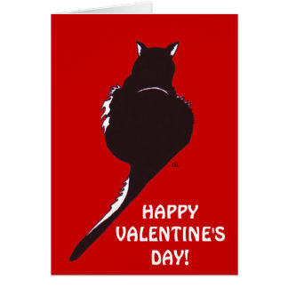 Black Cat Valentine Card