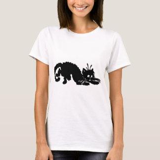 Black Cat Vintage Retro Cartoon Style T-Shirt