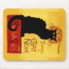 Black Cat Vintage Tournée du Chat Noir, Mousepad