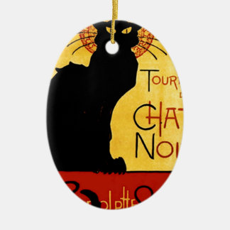 Black Cat Vintage Tournée du Chat Noir, Theophile Christmas Ornament