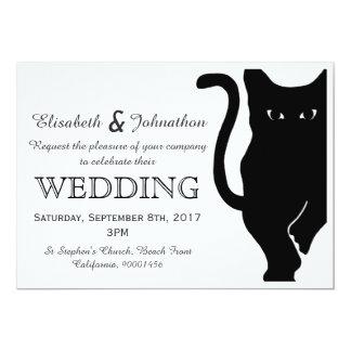 Black Cat Wedding Invitation