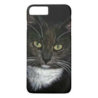 Black Cat White Bib Green Eyes iPhone 8 Plus/7 Plus Case