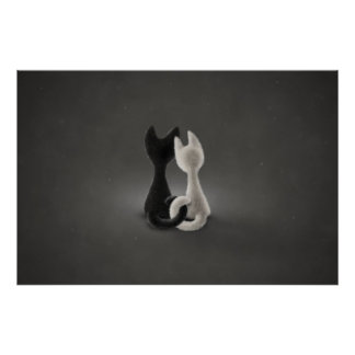 Black Cat White Cat (Color 2) Poster