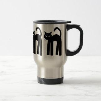 Black Cat Witch Familiar Pagan Mug Wiccan Cup