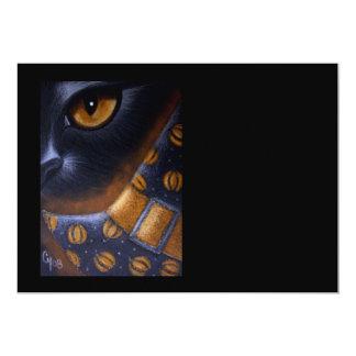 BLACK CAT & WITCH HAT HALLOWEEN CUSTOMIZE CARD 13 CM X 18 CM INVITATION CARD