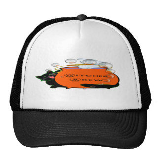 Black Cat Witches Brew Trucker Hat