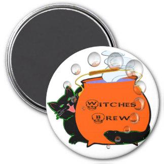 Black Cat Witches Brew Fridge Magnet