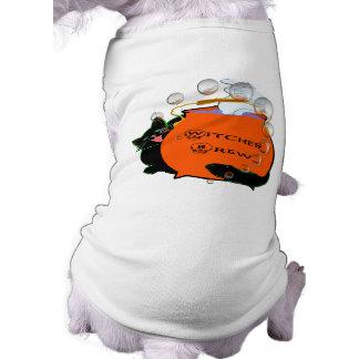 Black Cat Witches Brew Sleeveless Dog Shirt