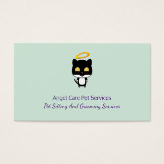 Black Cat With Golden Halo Cute Angel Pet Care