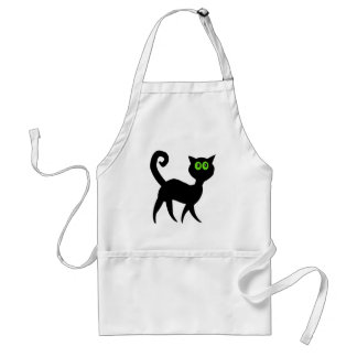 Black Cat with Green Eyes Standard Apron