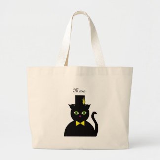 Black Cat wTopHat Yellow Bow Bags