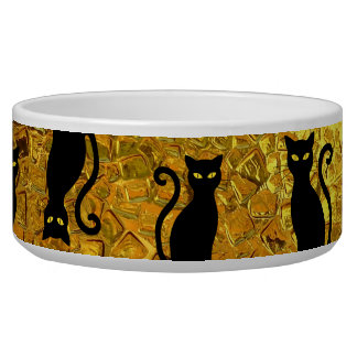 Black Cat Yellow Glass Texture Modern Cat Eyes