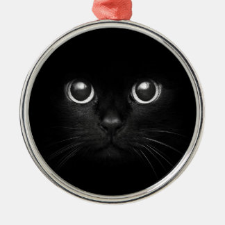 Black Cat Yule Christmas Ornament