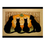 Black Cats and a Jack O'Lantern Post Cards