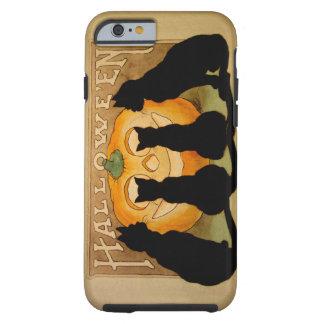Black Cats and a Jack O'Lantern Tough iPhone 6 Case