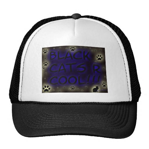 Black cats are cool trucker hat