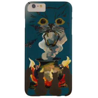 Black Cats Conjuring Spirits on Halloween Barely There iPhone 6 Plus Case