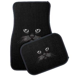 Black Cat's Eyes Watching You Car Mats