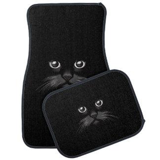 Black Cat's Eyes Watching You Car Mats Floor Mat