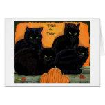 Black Cats Halloween card