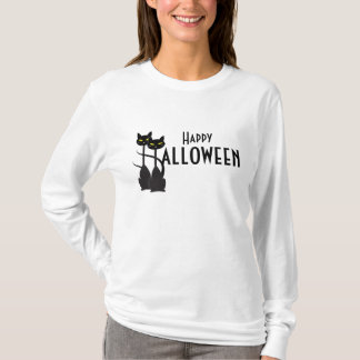 Black Cats Happy Halloween T-Shirt