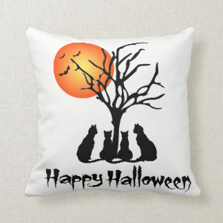 Black Cats In The Moonlight Cushion
