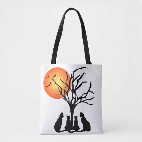 Black Cats In The Moonlight Tote Bag