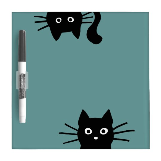 Black Cats on Teal (Colour is Customisable) Dry