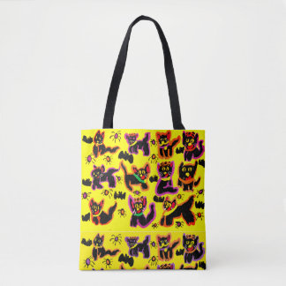 black cats party tote bag