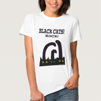 Black cats rock t shirt