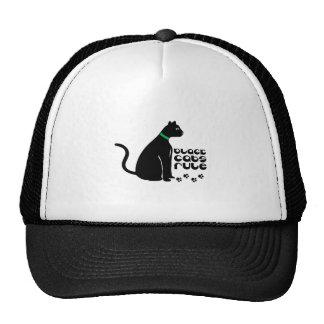 Black Cats Rule Trucker Hats