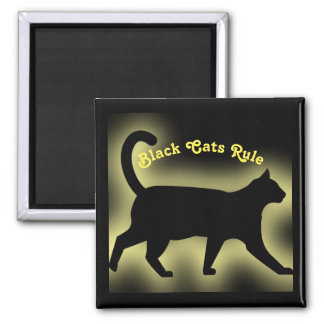 Black Cats Rule Magnet
