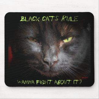 Black cats rule mouse mat