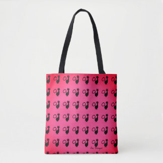 Black-Cats_Tropic-Rose(c) Multi Choices Tote Bag