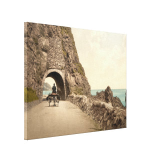 Black Cave Tunnel Co Antrim Northern Ireland Gallery Wrapped Canvas