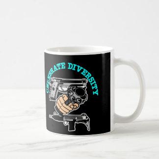 Black Celebrate Diversity Guns Coffee Mug