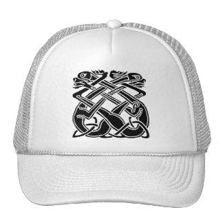 Black Celtic Dogs Mesh Hat