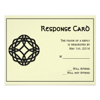 Black Celtic Eternity Knot Response Card