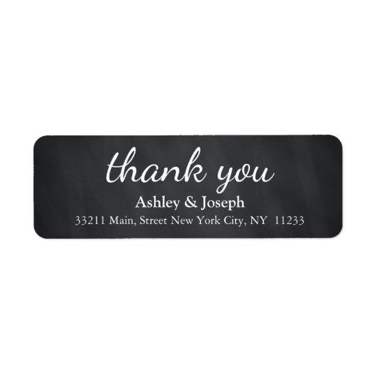 Black Chalkboard Custom Monogram Thank You